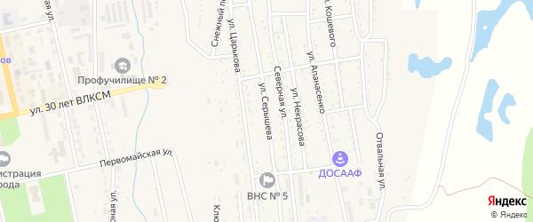 Улица Серышева на карте Райчихинска с номерами домов