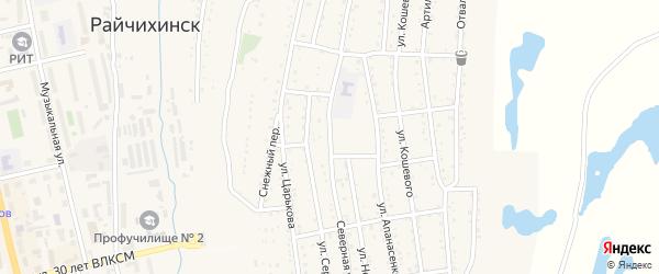 Северная улица на карте Райчихинска с номерами домов
