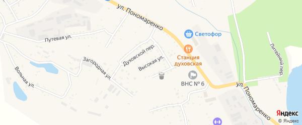 Высокая улица на карте Райчихинска с номерами домов