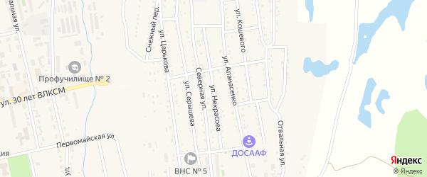 Улица Некрасова на карте Райчихинска с номерами домов
