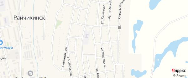 Улица Апанасенко на карте Райчихинска с номерами домов