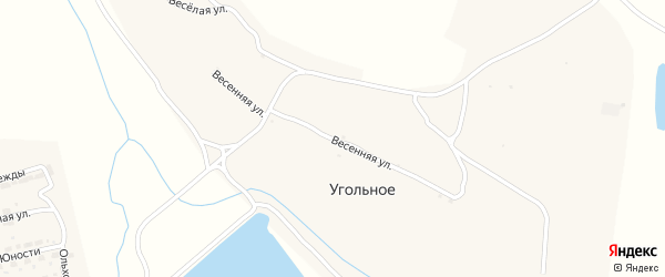 Весенняя улица на карте Угольного села с номерами домов