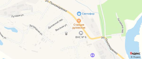 Духовская улица на карте Райчихинска с номерами домов