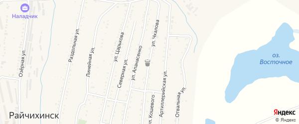 Улица Чкалова на карте Райчихинска с номерами домов