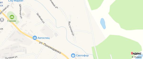 Восточная улица на карте Райчихинска с номерами домов