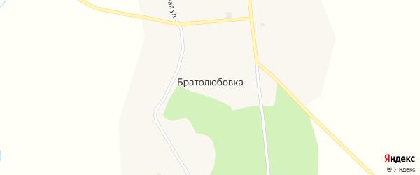 Советская улица на карте села Братолюбовки с номерами домов