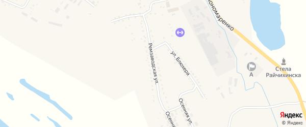 Ремзаводская улица на карте Райчихинска с номерами домов