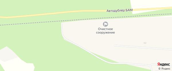 Таежная улица на карте поселка Тунгалы с номерами домов