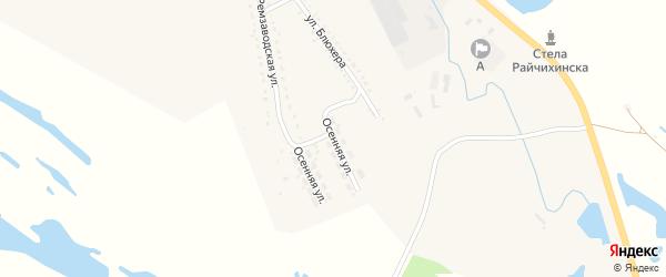 Осенняя улица на карте Райчихинска с номерами домов