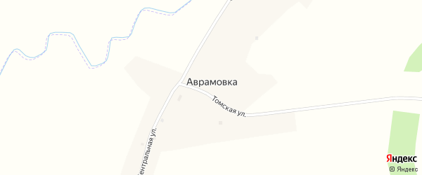 Томская улица на карте села Аврамовки с номерами домов