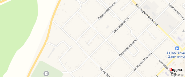 Майский переулок на карте Завитинска с номерами домов