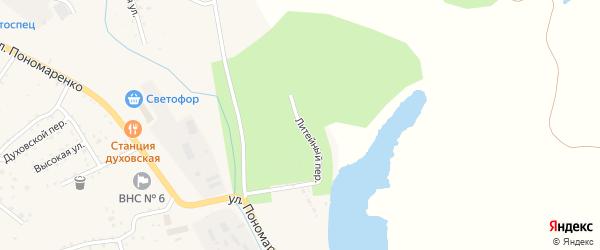 Литейный переулок на карте Райчихинска с номерами домов