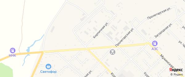 Кирпичная улица на карте Завитинска с номерами домов