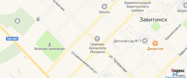Улица Чупрасова на карте Завитинска с номерами домов
