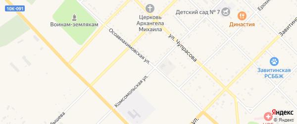 Осовиахимовская улица на карте Завитинска с номерами домов