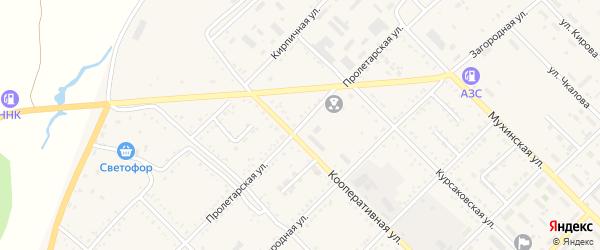Пролетарская улица на карте Завитинска с номерами домов