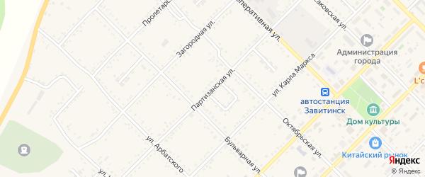 Партизанская улица на карте Завитинска с номерами домов