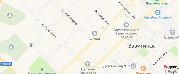 Улица Арбатского на карте Завитинска с номерами домов