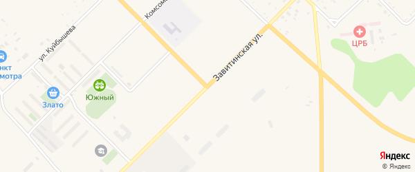 Завитинская улица на карте Завитинска с номерами домов