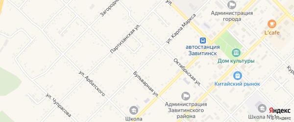 Улица К.Маркса на карте Завитинска с номерами домов