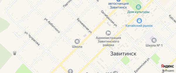 Красноармейская улица на карте Завитинска с номерами домов