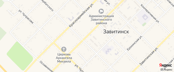 Улица Куйбышева на карте Завитинска с номерами домов