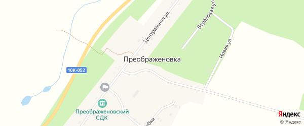 Зеленая улица на карте села Преображеновки с номерами домов