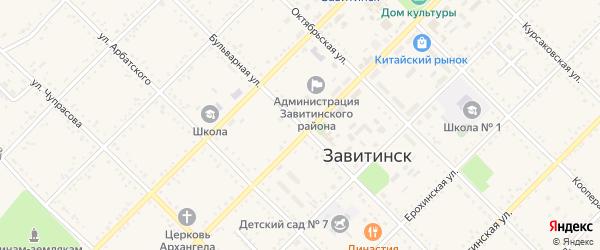 Бульварная улица на карте Завитинска с номерами домов