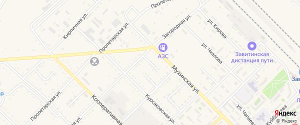 Торговый переулок на карте Завитинска с номерами домов