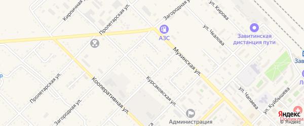 Заводской переулок на карте Завитинска с номерами домов
