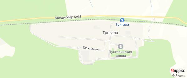 Карта поселка Тунгалы в Амурской области с улицами и номерами домов