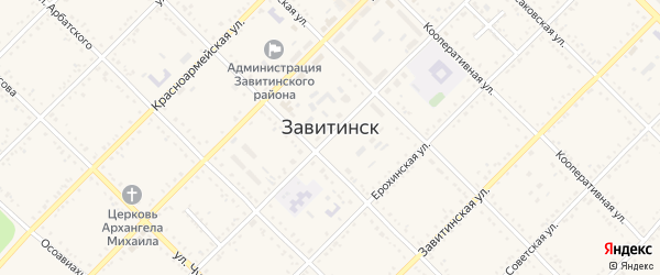 Улица Назаренко на карте Завитинска с номерами домов