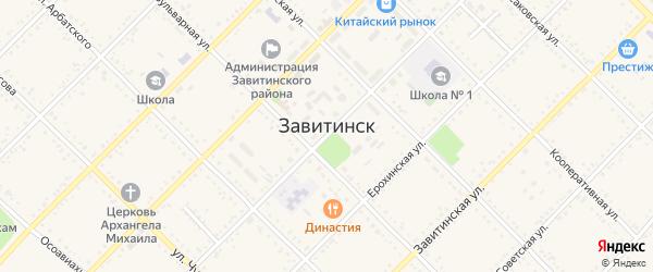 Западный переулок на карте Завитинска с номерами домов
