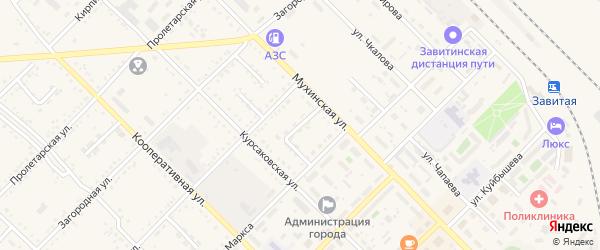 Переулок Леонова на карте Завитинска с номерами домов