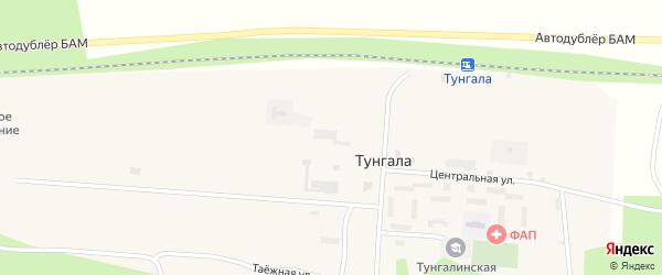 Центральная улица на карте поселка Тунгалы с номерами домов