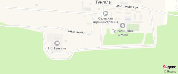 Школьная улица на карте поселка Тунгалы с номерами домов