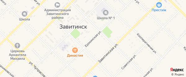 Ерохинская улица на карте Завитинска с номерами домов