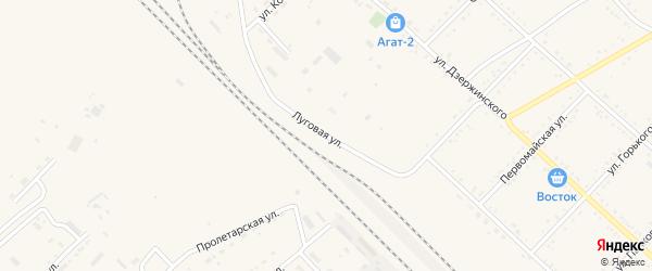 Луговая улица на карте Завитинска с номерами домов