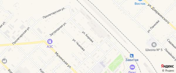 Улица Кирова на карте Завитинска с номерами домов