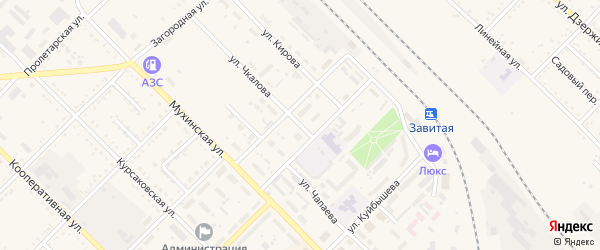 Улица Чкалова на карте Завитинска с номерами домов