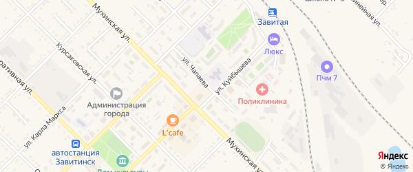 Улица Чапаева на карте Завитинска с номерами домов