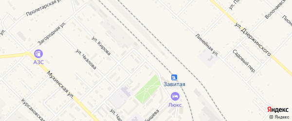 Станционная улица на карте Завитинска с номерами домов
