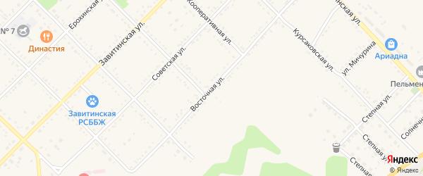 Восточная улица на карте Завитинска с номерами домов