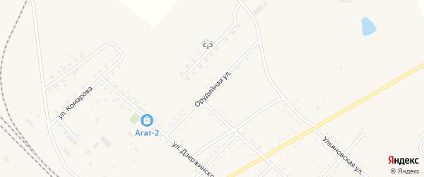 Орудийная улица на карте Завитинска с номерами домов
