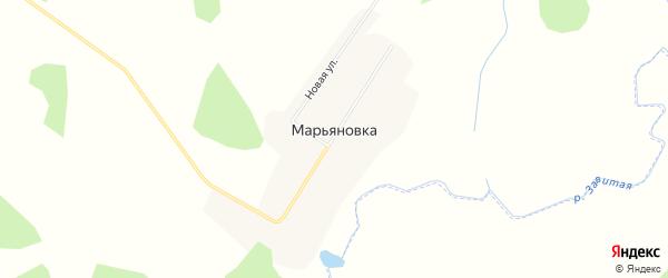 Карта села Марьяновки в Амурской области с улицами и номерами домов