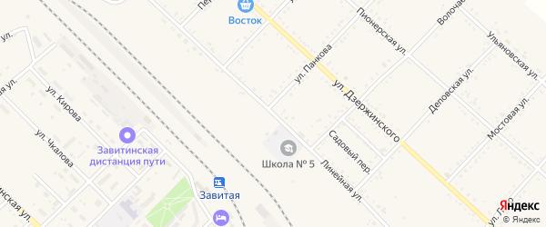 Линейная улица на карте Завитинска с номерами домов