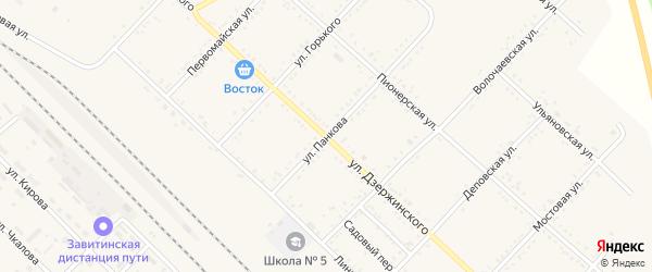 Улица Панкова на карте Завитинска с номерами домов