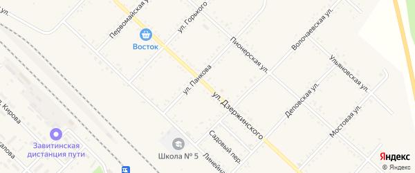 Улица Дзержинского на карте Завитинска с номерами домов