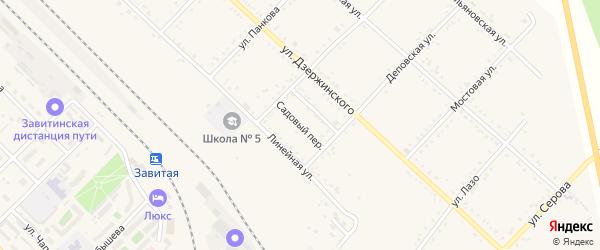 Садовый переулок на карте Завитинска с номерами домов