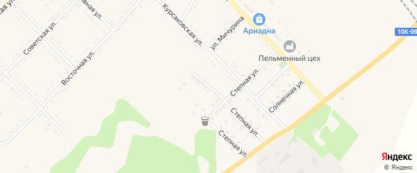 Молодежный переулок на карте Завитинска с номерами домов